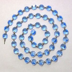 Party Supply of Crystal Party Decoration Strand with Chrome Clips pictures & photos