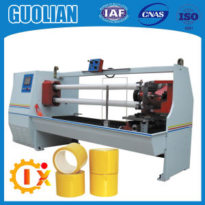 Gl-702 BOPP Tape Log Roll Slitter Adhesive Tape Cutting Machine pictures & photos