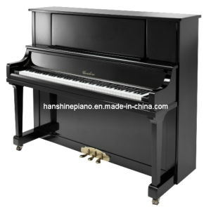 Chloris Black Polish Straight Leg Upright Piano Hu-125e