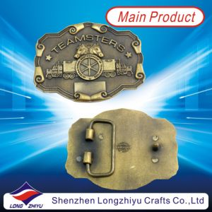 Antique Bronze Plating 3D Design Metal Custom Royal Belt Buckle (LZY201300003) pictures & photos