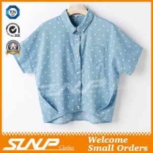 Wholesale Fashion Women Denim Cropped Shirt