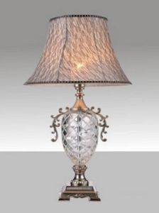 Phine 90168 Clear Crystal Table Lamp with Fabric Shade pictures & photos