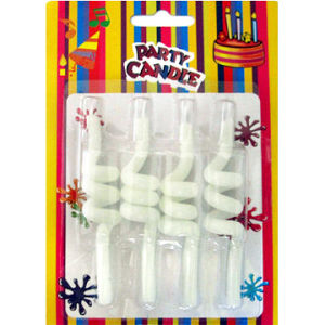 White Spiral Craft Candles (GYCY0059)