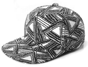 Black Triangle Pattern Printing Hip Hop Baseball Cap (03004) pictures & photos