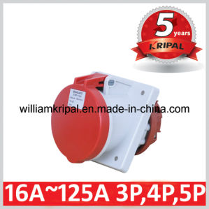 IP44 63A 3p+E Industrial Panel Mounted Socket Outlet pictures & photos