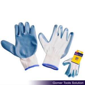 Blue Nitrile Coated Work Glove (T13122)