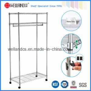 Chrome DIY Metal Bedroom Wardrobe/Garment Rack/ Closet Rack (1309328) pictures & photos