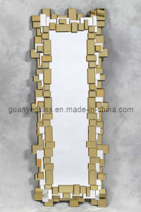 Framed Modern Dressing Mirror (GJ293-Gold)