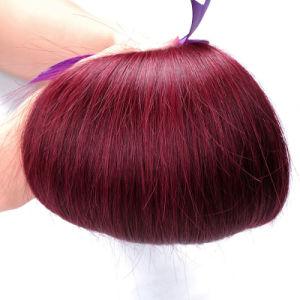 Virgin Brazilian Human Hair Straight Red Burgundy Women Hair 10-26 Inch pictures & photos