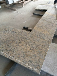Giallo Santa Cecilia Dark Granite Vanity Top & Kitchen Countertops pictures & photos