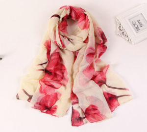 2016 Hot Sale Colorful Printed Women Shawl Cotton Scarf