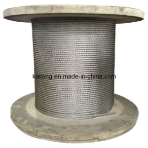 "Dia. 9.53mm 7X19; Stainless Steel Wire Rope Inox A2/A4 3/8"" pictures & photos"