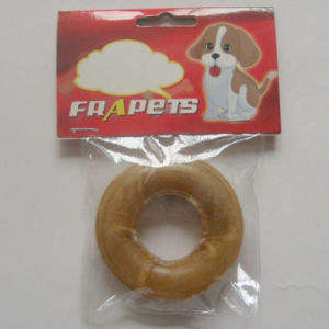 "Dog Food 3"" Natural Rawhide Pressed Ring Dog Chew pictures & photos"