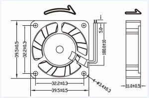 High Performance 24V DC Cooling Fan 40X40X10mm pictures & photos