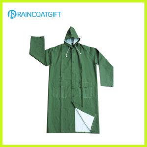 Rpp-026 Waterproof Durable PVC/Polyester Men′s Rainwear pictures & photos