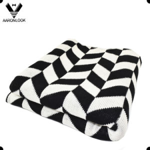 Fashion Knitting Twill Jacquard Pattern Acrylic Blanket pictures & photos
