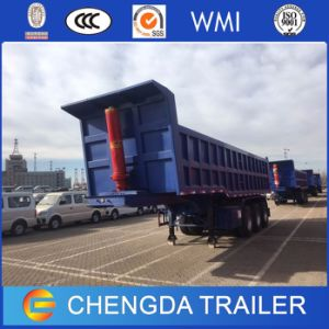 3axle 60ton Hydraulic Cylinder Tipper Dump Semi Trailer for Sale pictures & photos