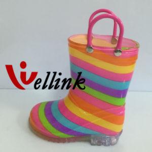Kids Fashion Style Rubber Rainboots pictures & photos