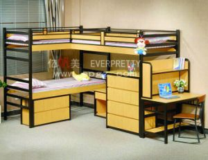 Wooden School Apartment Student Dormitory Bunk Beds pictures & photos