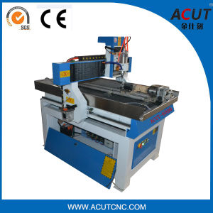 Acut-6090 Stone Carving Machine, Wood Working 4 Axis CNC Router with Big Rotary pictures & photos
