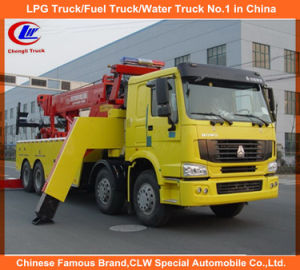 336HP 371HP Heavy Duty Sinotruk HOWO 8*4 Road Wrecker Trucks for Sale pictures & photos