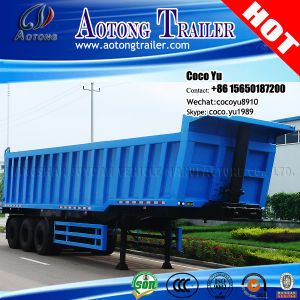 3 Axles 40ton Sand Tippers Semi Trailer for Congo pictures & photos