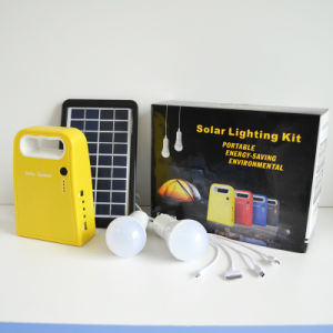 50W Solar Panel with 12V Battery LED Solar Power System pictures & photos