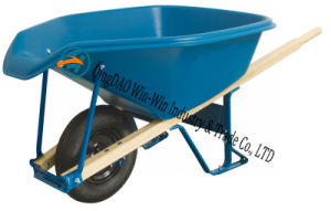 6 Cubic Foot Steel Wheelbarrow with Never Flat Tire pictures & photos