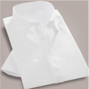 Slim Fit Business Men′s 100% Cotton Elegant White Work Shirts pictures & photos