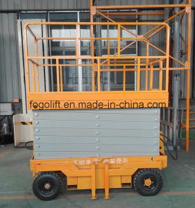 Battery Power 6m Lift Height Electric Mobile Scissor Lift for Sale pictures & photos