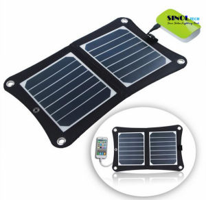 7W Portable Solar Charger Fodable Solar Panel Charger USB Output for iPhone, Samsung, Blackberry, iPod and Any USB Devices with 23% Cell Efficiency (FSC-07A) pictures & photos