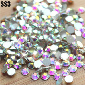 Strass Crystal Ab Flatback DMC Non Hotfix Rhinestones Non Hot Fix Crystal Stone (FB-SS3 crystal ab/3A) pictures & photos