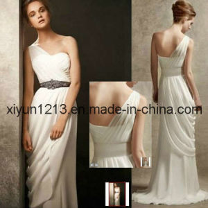 Brand New Beaded One Shoulder Chiffon Bridal Wedding Dresses (VW351000)