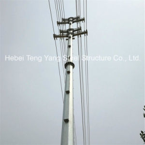 Hot DIP Galvanized Steel Pole Antenna Monopole Tower pictures & photos