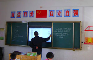 Sliding Chalkboard for TV or Interactive Whiteboard with Projector pictures & photos