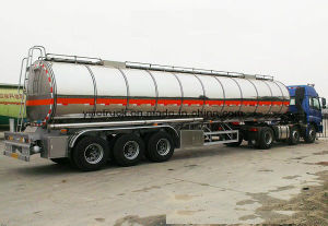 New 2017 Aluminum 45m3 Fuel Tanker Semi Trailer pictures & photos