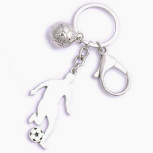 Promotion Logo Souvenir Premium Customized 3D Football Sport Keychain (F1190)