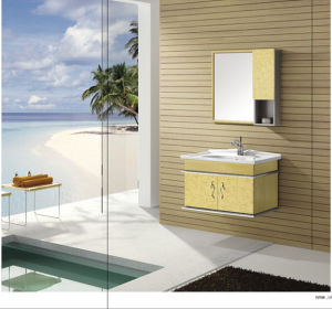 Golden Color Stainless Steel Bathroom Cabinet (T-9413) pictures & photos