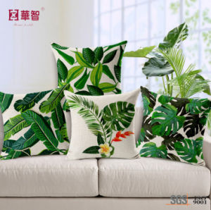 Designed Fashion Green Leaf Cushion Cover pictures & photos