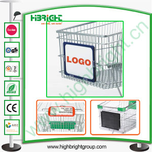 Plastic Advertisement Board for Supermarket Shopping Trolley pictures & photos