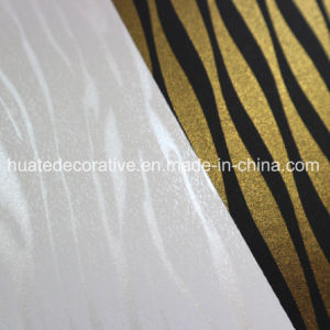 Melamine Impregnated Paper for Furniture, Laminate Board with Metallic pictures & photos