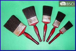 Shsy-2002L Red Wooden Handle Black Bristle Paint Brush pictures & photos