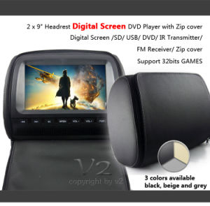 "DVD Player With Digital Screen -2x9"" Headrest (Vh92)"