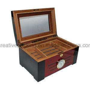 High Quality Cedar Wood Glass Cigar Humidor pictures & photos