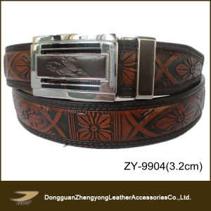 Fashion Embossed Genuine Leather Belt (ZY-9904)