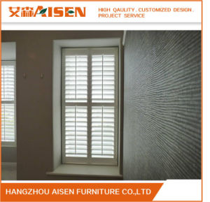 Full Height Modern White Basswood Plantation Shutters pictures & photos