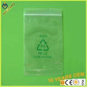 Plastic Custcom Pritnting Clear LDPE Reclosable Ziplock Zipper Bag