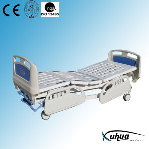 Three Cranks Manual Patient Care Bed with ABS Side Rails (A-15) pictures & photos