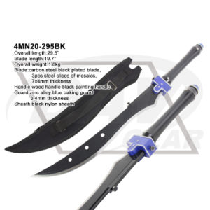 "29.5"" Overall Wood Handle Machete with Black Painting: 4mn20-295bk pictures & photos"