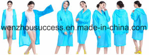 Light Reusable PVC Poncho/Rain Poncho with PU Coating pictures & photos
